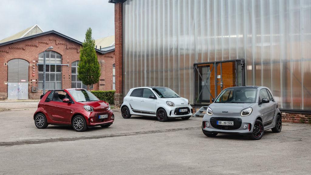 Τα ηλεκτροκίνητα Smart EQ Fortwo Coupe, Cabrio και Forfour